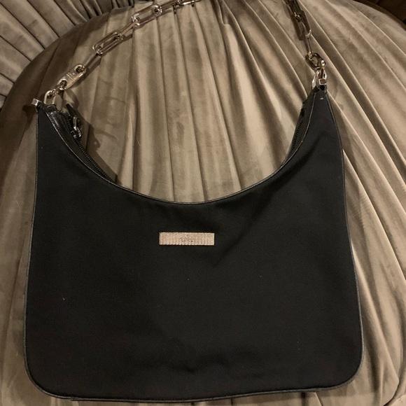 2facb3a6aa0 Gucci Silver Chain Handbag Black Authentic